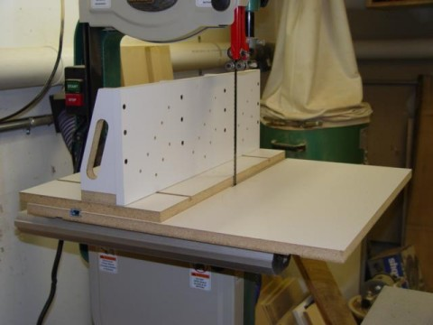 Band Saw Jig For Cutting Logs